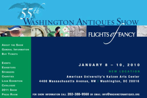 Washington Antiques Show website screenshot