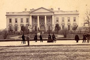 North Grounds of the White House, circa 1860s.