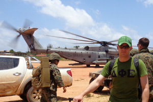 William Hubbard on military deployment in Puerto Lempira, Honduras.