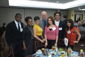 Dr. Gary Wright and scholarship recipients