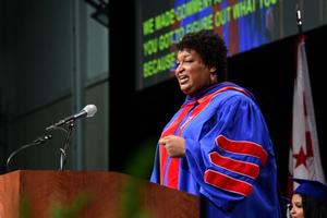 Stacey Abrams speaks at AU SPA Commencement Ceremony
