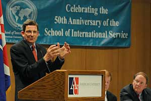 Photo: Former U.S. ambassador to Turkey Marc Grossman spoke at the Adair Lecture.