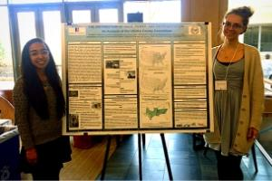 Global Environmental Policy Program graduate students Amber Orozco and Alexandria Ward.
