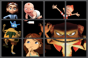 Characters created by artists with Digital Animation Department at the University of the Balearic Islands.