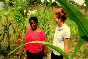 Anthropology PhD candidate Joeva Rock conducting researching in Ghana.