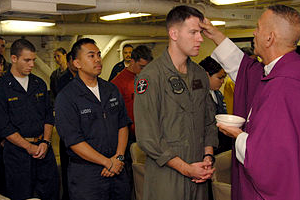 Ash Wednesday for members of the Navy