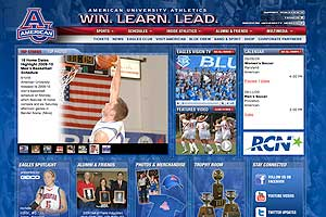 American University Athletics page screenshot