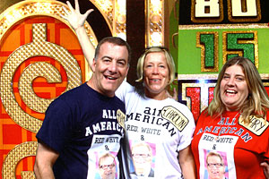 Photo: Bernie Schulz and his sisters on the set of the 'Price is Right.'