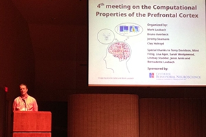 Professor Mark Laubach presenting at the Computational Properties of the Prefrontal Cortex conference.