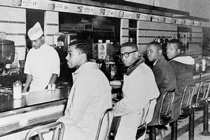 On February 1, 1960, four African American students sat down at a lunch counter in North Carolina.