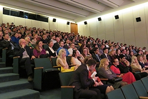 Audience members at Rublev film