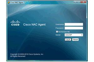 Cisco NAC Login Screen