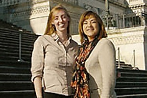 Student and Congresswoman on Capitol Hill