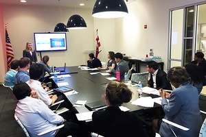 AU Students present to DC Chamber of Commerce
