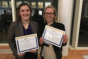 Student receive chemistry awards.