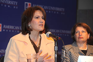 Photo: Anita McBride and Susan Sher