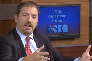 Chuck Todd was the guest for the most recent American Forum, which was filmed for NBC4 in SOC's Media Production Center