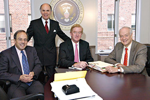 Picture: (l-r) Robert Pastor, Thomas d'Aquino, William Weld, and Andres Rozenthal