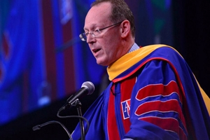 Dr. Paul Farmer speaking at commencement ceremony for AU's College of Arts and Sciences