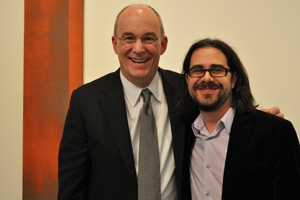 College of Arts and Sciences dean Peter Starr and Ian Bogost