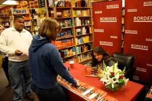 Jennifer Lawless signing at Borders Bookstore