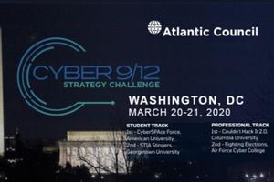 Atlantic Council, CYBER 2/12 Strategy Challenge. Washington DC March 20-21, 2020.