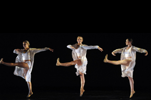 Photo of Lauren Christie (on right) dancing at the American Dance Festival. Photo by Sara D. Davis/ADF 2011.