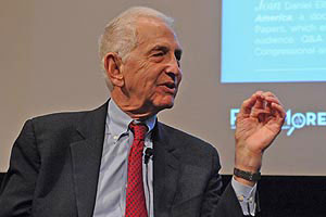 Daniel Ellsberg came to American University to discuss his film 'Most Dangerous Man in America.'