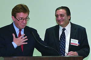 Nissenbaum, right, won the 2008 Alumni Achievement Award, given to alumni who inspire the world around them through service to the community or a philanthropic mission.