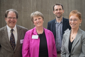 Peter Jaszi, Nancy Davenport, Brandon Butler, and Patricia Aufderheide (left to right)