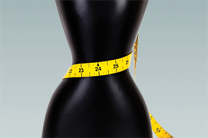 tape measure at waist