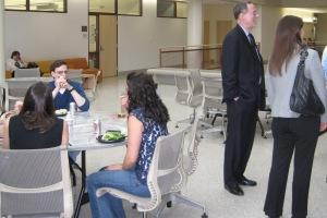 U.S. Foreign Policy students, staff, and faculty enjoyed a casual end of year dinner together.
