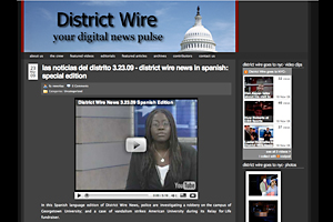Broadcast Journalism students produced a Spanish-language newscast that can be seen on this Web site.