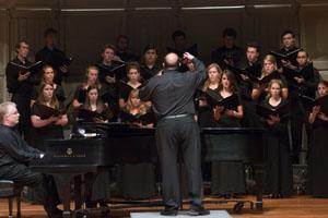 AU Chamber Singers perform work celebrating poetry of Moshe Dor.