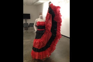 Papier mâché dress created by AU student Lauree Tu.