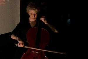 Nancy Jo Snider plays the cello