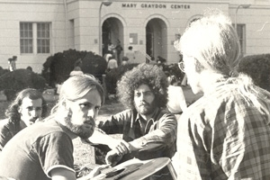 Students on the Quad in front of the Mary Graydon Center, circa 1970