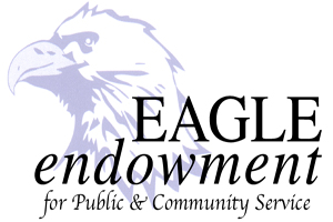 Eagle with endowment wording on it