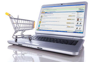eCommerce Computer and Shopping Cart