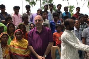Professor Todd Eisenstadt in Bangladesh