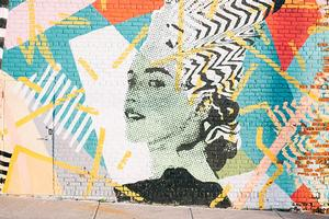 Street art of woman