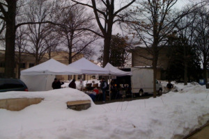 Farmers Market in the Snow