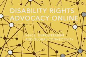 Book cover for Disability Rights Advocacy Online