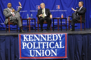 Michael Steele and Harold Ford Jr., debate at the Kennedy Political Union
