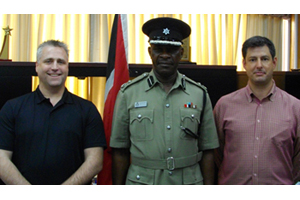 Professor Ed Maguire of American University, with Commissioner Trinidad and Tobago Police Service James Philbert, and<br />Professor Charles Katz of Arizona State University.
