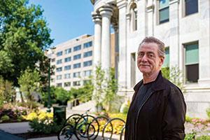 Bill Gentile standing in front of Mckinley Building.