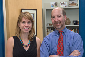 Julia Carrano and Jon Gould head AU's Preventing Wrongful Convictions Project. (Photo: Jeff Watts)