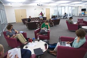 New graduate lounge in bender library