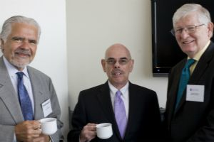 Professor Patrick Griffin, Representative Henry Waxman, and CCPS Director James A. Thurber