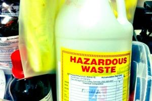 Image of a hazardous waste label